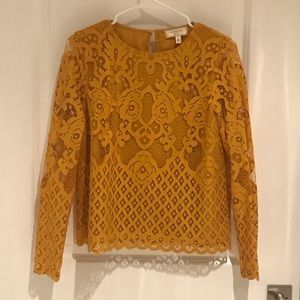 Mustard color lace top.